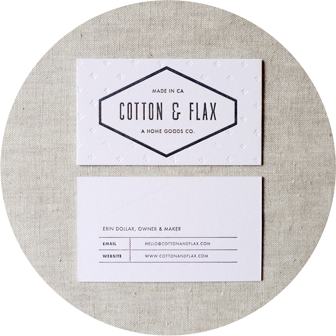 New business cards and hangtags cotton flax theres reheart Gallery