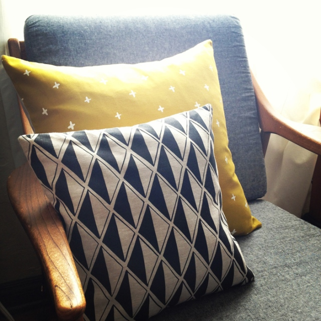sunny Cotton & Flax pillows