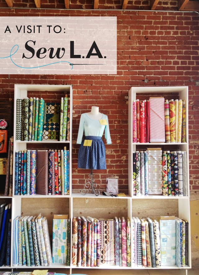 Cotton & Flax visits Sew L.A.