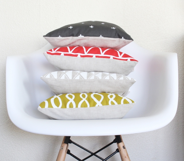 Cotton & Flax pillows from the S/S Collection