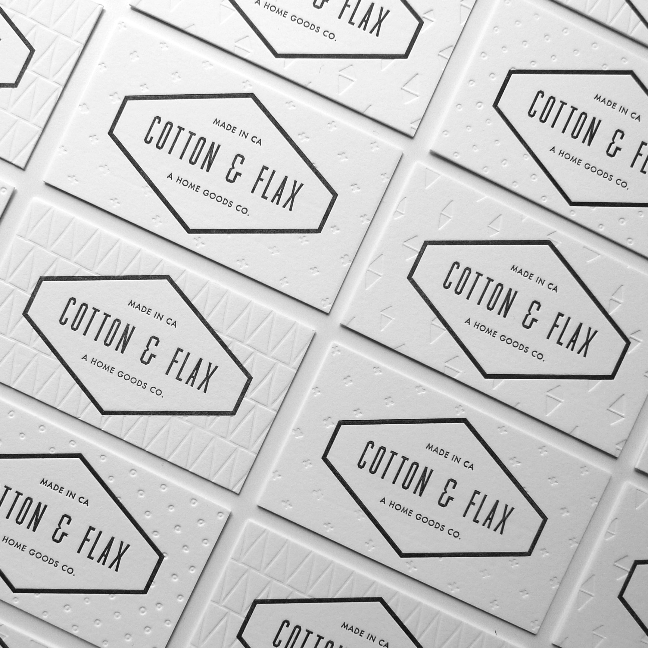 Cotton & Flax business cards   Cotton & Flax