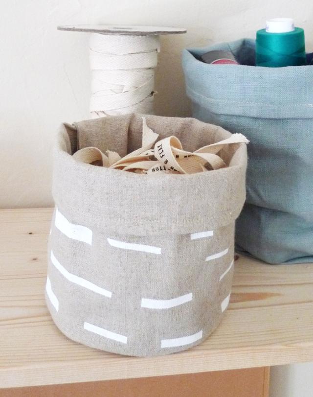 Cotton & Flax fabric bin
