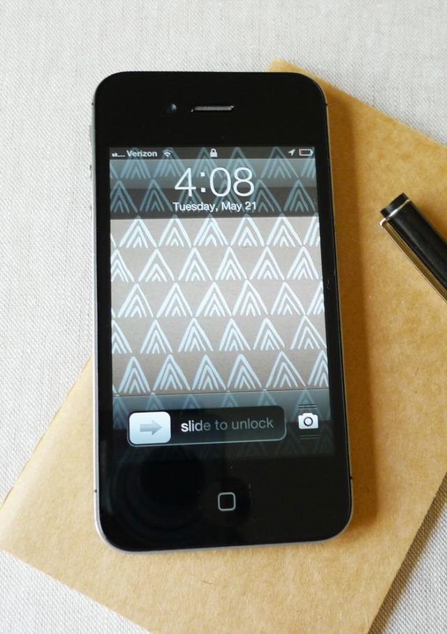 Cotton & Flax iphone wallpaper kraft mountains